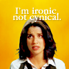 "nenya_kanadka: Wendy Watson: ""I'm ironic, not cynical"" (Middleman ironic not cynical)"