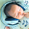 rikes: baby with headphones (Listen to the music playing in your head)