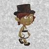 thedivinegoat: A pencil sketch style picture of my Glitch, Ama Gafr (Glitch - Ama Gafr)
