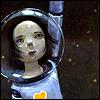pameladlloyd: Girl on a space walk (space girl)
