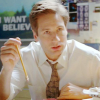 skieswideopen: Mulder sitting as his desk, holding a pencil (X-Files: Mulder)