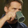 skieswideopen: Cameron Mitchell drinking from a mug (SG: Cam with coffee)