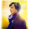 winter_elf: Sherlock Holmes (BBC) with orange soft focus (Sam Winchester)