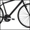 pinesandmaples: A cropped image of a black Globe Work bicycle (bike: Globe Work)