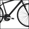 pinesandmaples: A cropped image of a black Globe Work bicycle (bike: Globe Work)
