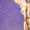 starfleet: A statue of an angel holding a sword, imposed over a blue glittery background (not nearly as obnoxious as it sounds) (The Shadowhunter)