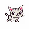 chalcopyrite: Cartoony picture of a cute grey-striped kitten (animals: I'm a kitty!)