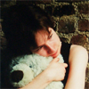 rosefox: Me hugging a giant teddy bear, very sad. (sad, hug, lonely)