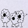 rosefox: Three cartoon balls of fluff looking shocked. (shocked)