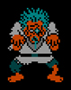 rosefox: A zombie from a Nintendo game. (retro, tired, groggy, video games, zombie)