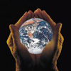 rosefox: Two cupped hands holding the Earth. (religion, magic, meditation, energy, healing)