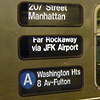 "rosefox: A sign from the A train that says ""207 Street, Manhattan"". (transit)"