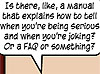 "rosefox: A speech bubble: ""Is there, like, a manual that explains how to tell when you're being serious and when you're joking?"" (Aspie, sarcasm, FAQ)"