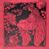 rosefox: A woodblock print of a woman surrounded by roses. (roses, old-fashioned, fairy tales, nostalgia)