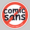 "rosefox: A circle-and-slash NO sign over the words ""comic sans"". (esthetics)"