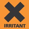 "rosefox: A giant X and the word ""IRRITANT"". (pain, annoyed, annoying)"