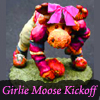 "rosefox: A moose in a football outfit with a pink bow and the words ""Girlie Moose Kickoff"". (contrasts)"
