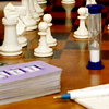 rosefox: Chess pieces, a Boggle timer, a deck of Set cards, pen and paper. (card games, board games, games)