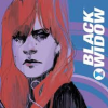 james: Black Widow from comics with caption Black Widow (Black Widow title)