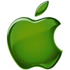 rosefox: A green Apple logo. (mac geek)
