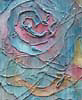 rosefox: A painting of a stylized rose in soft tones with streaks that look like rain. (summer, romance, rain, beauty, art)