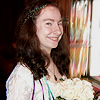 rosefox: Me on my wedding day, grinning and holding my bouquet. (bride)