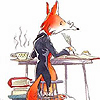 rosefox: A fox writing book reviews. (nbcc)