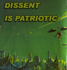 "rosefox: A sci-fi landscape and the words ""DISSENT IS PATRIOTIC"". (patriotism-dissent)"