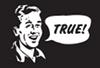 """rosefox: A man saying """"True!"""". (true!, approval-true)"""