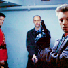 azarsuerte: Fraser (Paul Gross), Ray Vecchio (David Marciano), and Ray Kowalksi (Callum Keith Rennie) hunting a suspect together. (due South - Fraser/Vecchio/Kowalski)