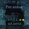shinentai: sailing ship beneath stars (per ardua ad astra)