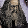 delphi: A screenshot of Aberforth Dumbledore sitting at his bar from the Deathly Hallows film. (aberforth)