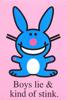 adric: (Boys Stink Happy Bunny)