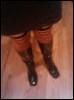 adric: Shiny boots, stripey socks (boots)