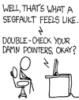 kjwcode: Segfault. (compiler complaint)