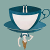 misbegotten: Alice in Wonderland upside down, looking remarkably like a tea cup (Lit Alice Teacup)