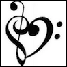 xtina: Musical notes mashed to look like a heart. (music)