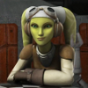 bedlamsbard: star wars rebels: hera with her arms folded, smiling (hera)