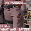 """jamethiel: A cropped picture of someone wearing trousers with a thigh holster. Text """"My fandom... uhm... what was I saying?"""" (FireflyWhatwasISaying?)"""