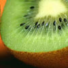 jamethiel: a close up of a kiwi fruit, cut in half (Kiwifruit)