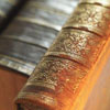 jamethiel: A photo of leatherbound book spines (BookSpine)