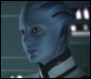 halialkers: Blue skinned alien right profile smiling (Emashi Arshakan)