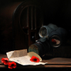 artzbots: (gas mask, my art, painting, poppies)