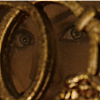 sharpest_asp: Maleficent's eyes behind the grille in Aurora's room (Maleficent: Eyes)