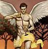 timetravellingbunny: Angel's duality (Angel Tarot Temperance)