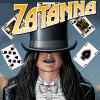 misbegotten: Zatanna Zatara in a top hat with floating playing cards (DC Zatanna Top Hat)