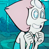 frayadjacent: Close up of Pearl looking excited (SU: Pearl excited)