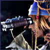 stealth_noodle: RIkku peering through binoculars with keen interest. (rikku)