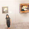 watersword: Sophie Devereaux in a museum, looking up and over her shoulder (Leverage: sometimes bad guys are the onl)