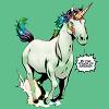 calime: AoA unicorn Loki text 'by the power of  Asgard' (Loki unicorn)
